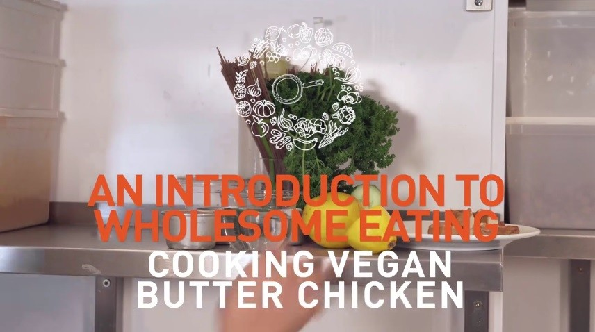 Cooking vegan butter chicken