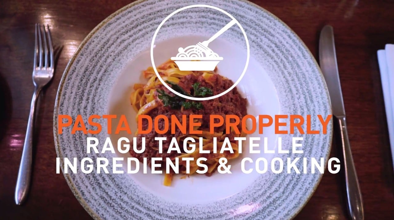 Pasta done properly. Ragu Tagliatelle Ingredients & Cooking