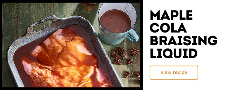 Maple cola braising liquid dish